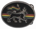 Rasta Lion Belt Buckle with display stand (LC7)